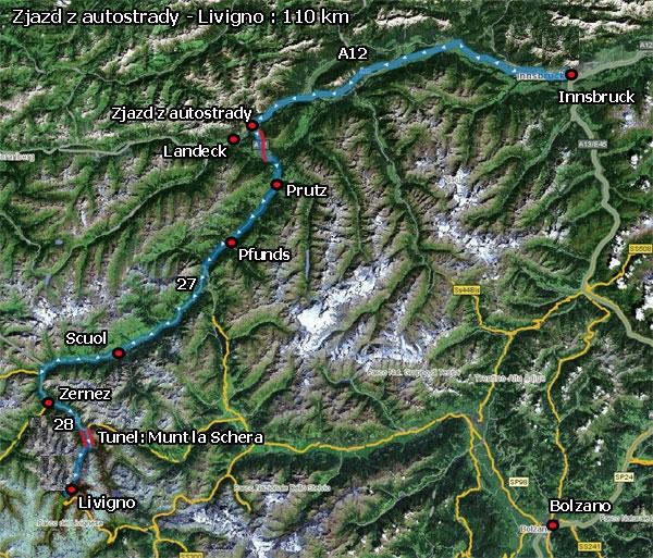 Dojazd do Livigno